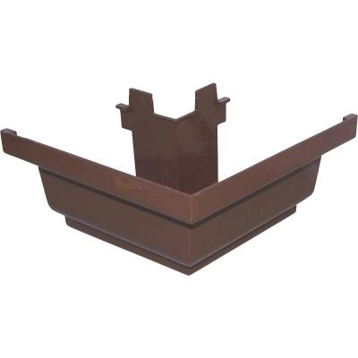 Repla K 5 In. Vinyl Brown Gutter Outside Corner