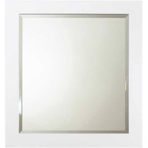 Bertch White 28 In. W x 30 In. H Framed Vanity Mirror