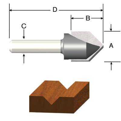 Vermont American Carbide Tip 60 Degree V-Groove Bit