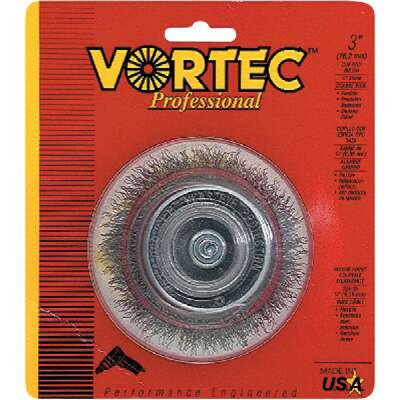 Weiler Vortec 3 In. Professional Shank-Mounted Drill-Mounted Wire Brush
