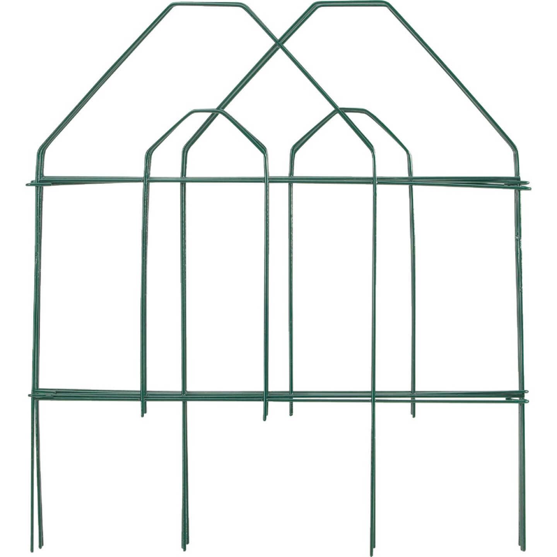 Best Garden 8 Ft. Green Galvanized Wire Folding Fence Image 1