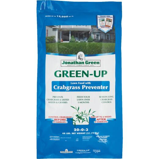 Jonathan Green Green-Up 45 Lb. 15,000 Sq. Ft. 22-0-3 Lawn Fertilizer with Crabgrass Preventer