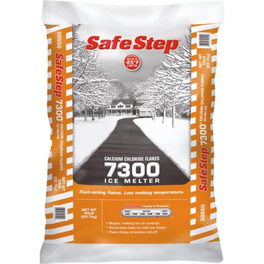 Safe Step 7300 50 Lb. Calcium Chloride Ice Melt Flakes