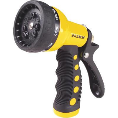 Dramm Heavy-Duty Metal 9-Pattern Nozzle, Yellow