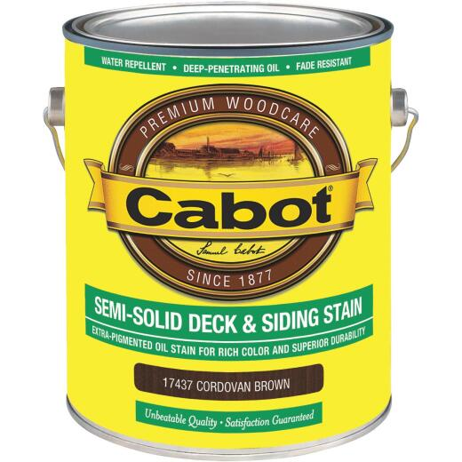 Cabot VOC Semi-Solid Deck & Siding Stain, Cordovan Brown, 1 Gal.