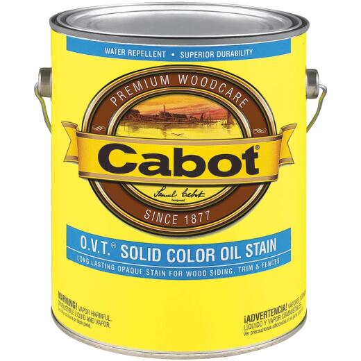 Cabot VOC Compliant O.V.T. Solid Color Exterior Stain, Neutral Base, 1 Gal.