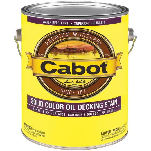 Cabot VOC Solid Color Oil Deck Stain, Deep Base, 1 Gal.