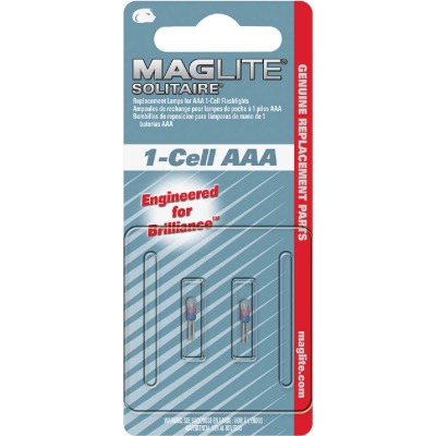 Maglite Solitaire Xenon 1.2V Flashlight Bulb (2-Pack)